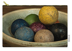 Clay Marbles In Bowl Carry-all Pouch