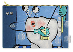 Carry-all Pouch featuring the painting Clean Tooth by Anthony Falbo