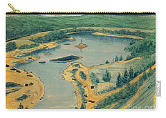Carry-all Pouch featuring the painting Clearwater Lake Early Days by Kip DeVore