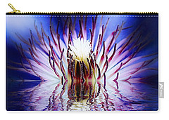 Carry-all Pouch featuring the photograph Clematis Rising by Nick Kloepping