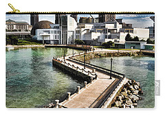 Carry-all Pouch featuring the photograph Cleveland Inner Harbor - Cleveland Ohio - 1 by Mark Madere