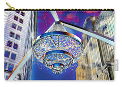 Carry-all Pouch featuring the photograph Cleveland Playhouse Square Outdoor Chandelier - 1 by Mark Madere