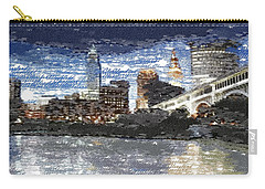 Cleveland Skyline - Typography Carry-all Pouch