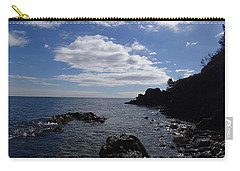 Carry-all Pouch featuring the photograph Cliff Bottom by Robert Nickologianis