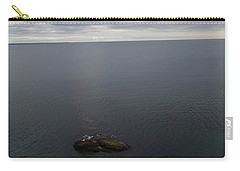 Carry-all Pouch featuring the photograph Cliff View by Robert Nickologianis