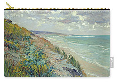 Cliffs By The Sea At Trouville  Carry-all Pouch by Gustave Caillebotte
