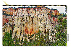 Cliffs Near Checkerboard Mesa Along Zion-mount Carmel Highway In Zion National Park-utah Carry-all Pouch