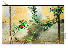 Carry-all Pouch featuring the photograph Climbing Rose Plant by Silvia Ganora