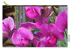 Climbing Sweet Peas Carry-all Pouch by Bruce Bley