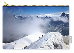 Climbing To The Aiguille Du Midi Carry-all Pouch