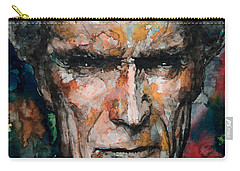 Clint Eastwood Carry-all Pouch by Laur Iduc