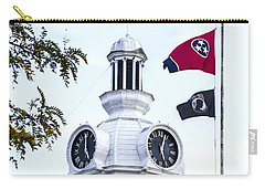 Clock Tower With Tennessee Mia Us Flag Art Carry-all Pouch