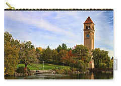Clocktower And Autumn Colors Carry-all Pouch