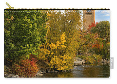 Clocktower In Fall Carry-all Pouch