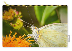 Carry-all Pouch featuring the photograph Butterfly Attracted To Mexican Flame by Debra Martz