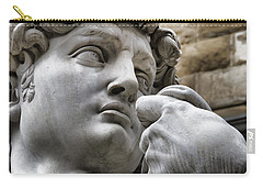 Close-up Face Statue Of David In Florence Carry-all Pouch
