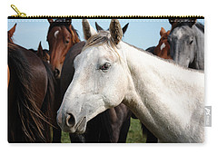 Close-up Herd Of Horses. Carry-all Pouch