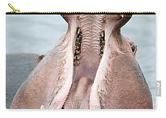 Close-up Of A Hippopotamus Hippopotamus Carry-all Pouch by Panoramic Images