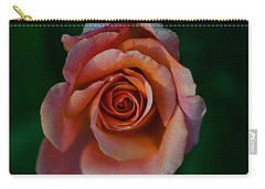 Close-up Of A Pink Rose, Beverly Hills Carry-all Pouch