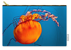Carry-all Pouch featuring the photograph Close Up Of A Sea Nettle Jellyfis by Eti Reid