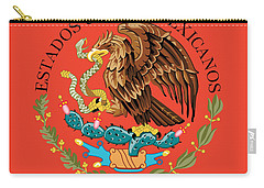 Close Up Of The Seal Within The Mexican National Flag Carry-all Pouch