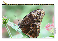 Closed Blue Morpho Carry-all Pouch by Denyse Duhaime