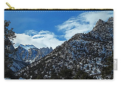 Carry-all Pouch featuring the photograph Closed To Through Traffic  - Mount Whitney by Glenn McCarthy