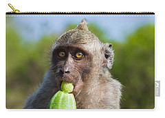 Closeup Monkey Eating Cucumber Carry-all Pouch