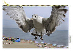 Closeup Of Hovering Seagull Carry-all Pouch