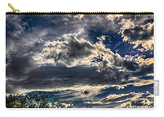 Carry-all Pouch featuring the photograph Cloud Drama by Mark Myhaver