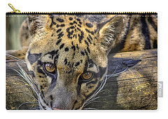 Carry-all Pouch featuring the photograph Clouded Leopard by Steven Sparks