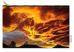 Carry-all Pouch featuring the photograph Clouds 2 by Pamela Cooper