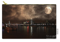 Clouds Over The River Thames Carry-all Pouch by Doc Braham
