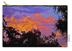 Carry-all Pouch featuring the photograph Clouds by Pamela Cooper