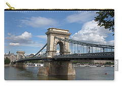 Carry-all Pouch featuring the photograph Clouds Sky Water And Bridge by Caroline Stella