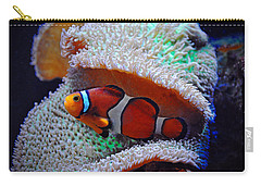 Carry-all Pouch featuring the photograph Clown Fish by Savannah Gibbs