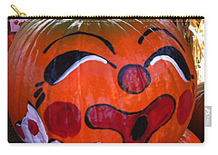 Carry-all Pouch featuring the photograph Clown Pumpkin by Denyse Duhaime