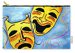 Carry-all Pouch featuring the painting Comedy And Tragedy by Nora Shepley