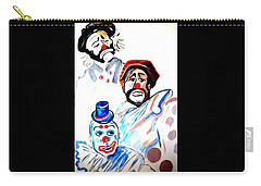 Carry-all Pouch featuring the painting Clowns In Heaven by Nora Shepley