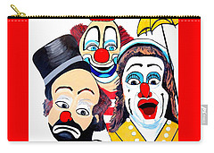 Carry-all Pouch featuring the painting Clowns In Shock by Nora Shepley
