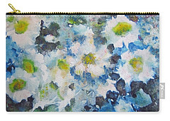 Carry-all Pouch featuring the painting Cluster Of Daisies by Richard James Digance