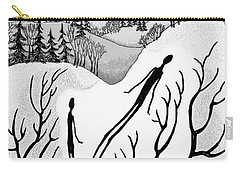 Carry-all Pouch featuring the digital art Clutching Shadows by Carol Jacobs