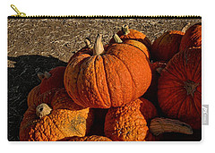 Carry-all Pouch featuring the photograph Knarly Pumpkin by Michael Gordon