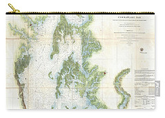 Coast Survey Chart Or Map Of The Chesapeake Bay Carry-all Pouch