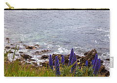 Coastal Cliff Flowers Carry-all Pouch by Melinda Ledsome