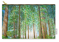 Carry-all Pouch featuring the painting Coastal Redwoods by Jane Girardot
