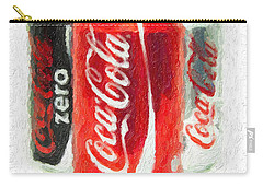 Coca Cola Art Impasto Carry-all Pouch by Antony McAulay