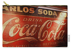 Carry-all Pouch featuring the photograph Coca Cola Sign by Rodney Lee Williams