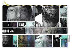 Carry-all Pouch featuring the photograph Coca In Part 4 Collage by Sir Josef - Social Critic - ART