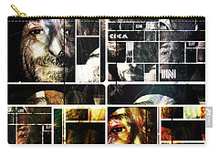Carry-all Pouch featuring the photograph Coca In Part 5 Collage  by Sir Josef - Social Critic - ART